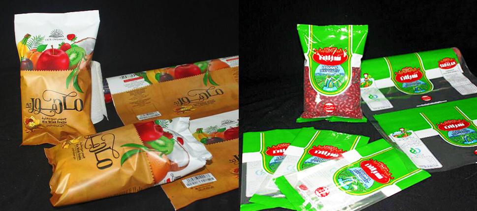 چاپ لفاف های بسته بندی محصولات
